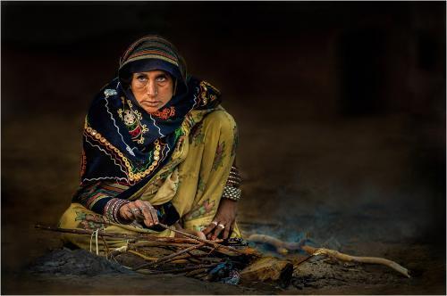 PDI Open Colour MCPF Ribbon Rajasthani Woman Ketan Shah England