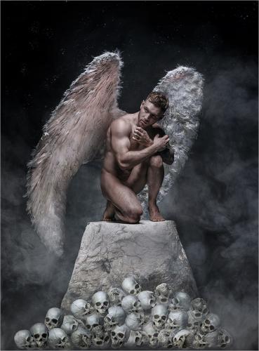 PDI Creative PSA Silver Fallen Angel Carol McNiven Young England