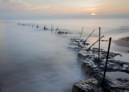 PDI Scapes MCPF Ribbon Sunrise, Sugar Sands Fence Monica Doshi England