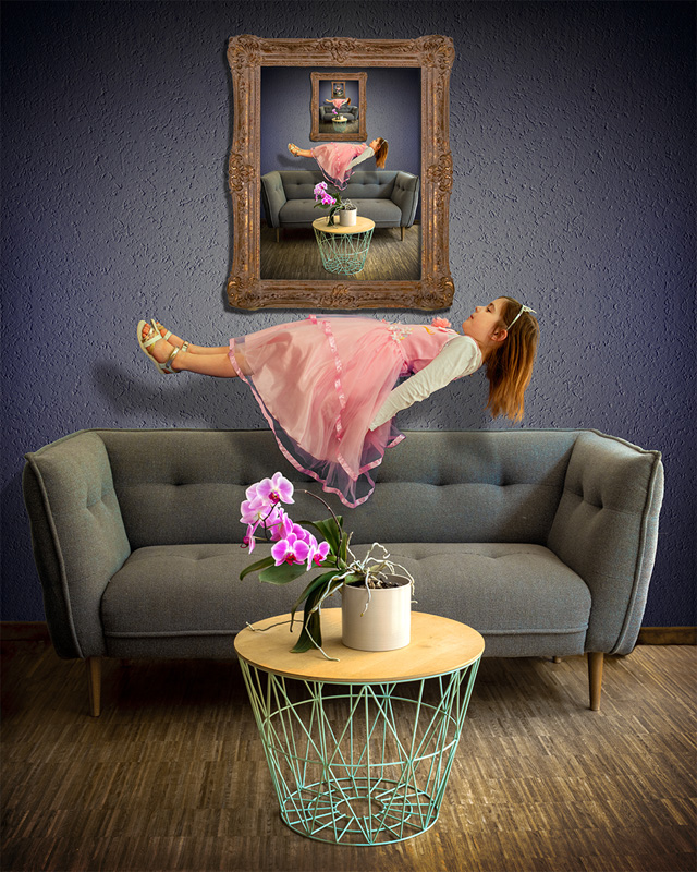 FIAP Silver - A Floating Girl And An Orchid - Jeff Origer - Luxembourg